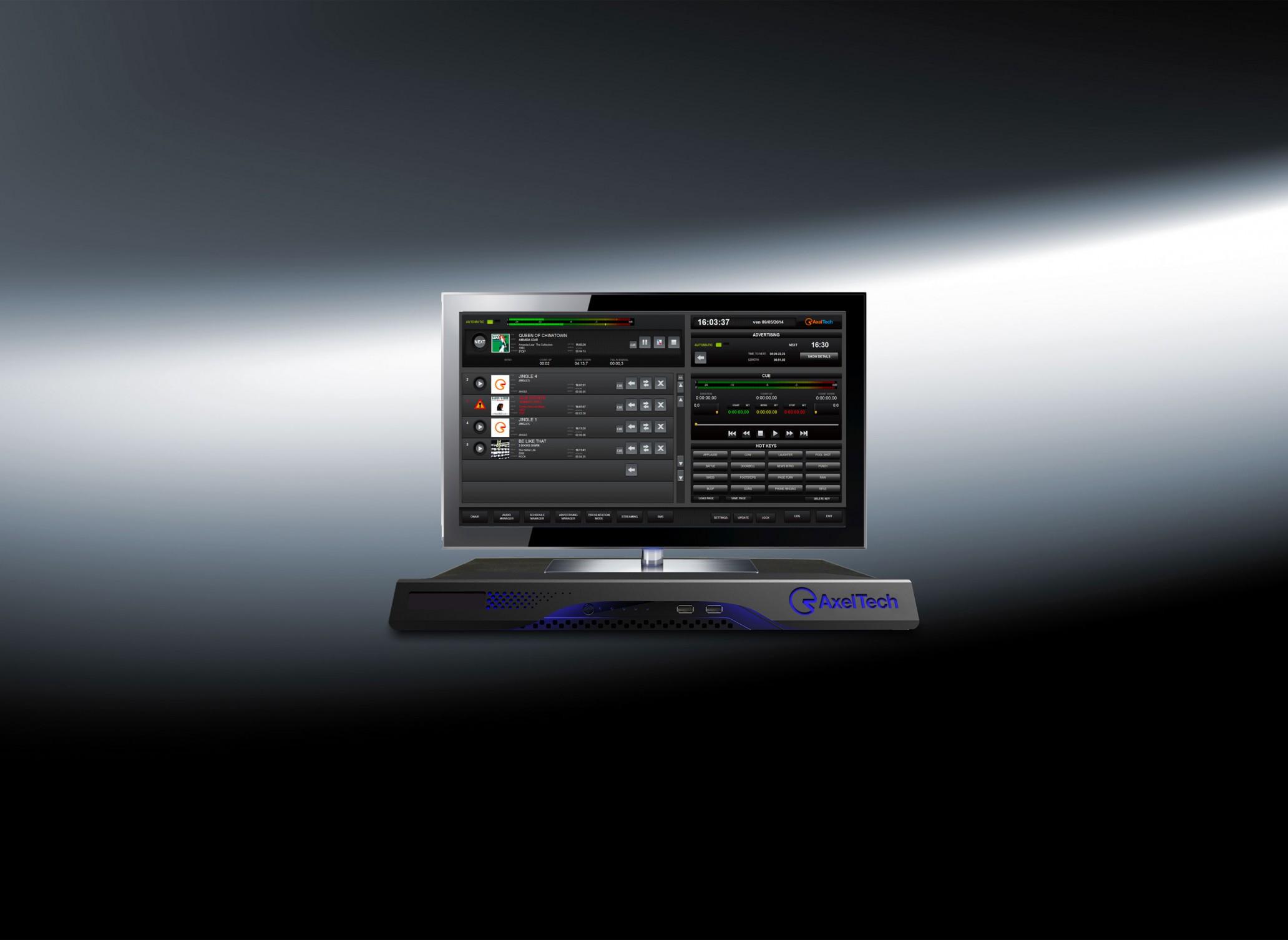 Système de programmation musicale bande son Studio AxelTech