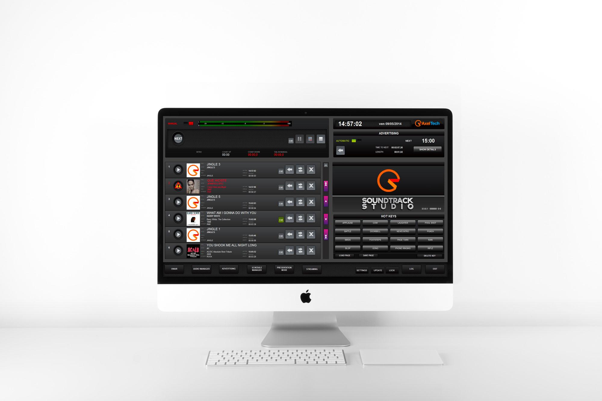 système de programmation musicale Soundtrack Studio AxelTech